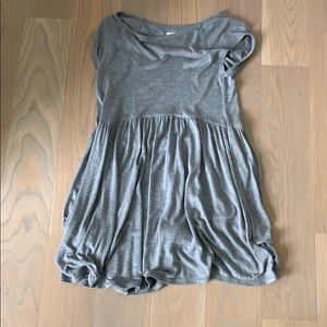 Grey t shirt mini dress
